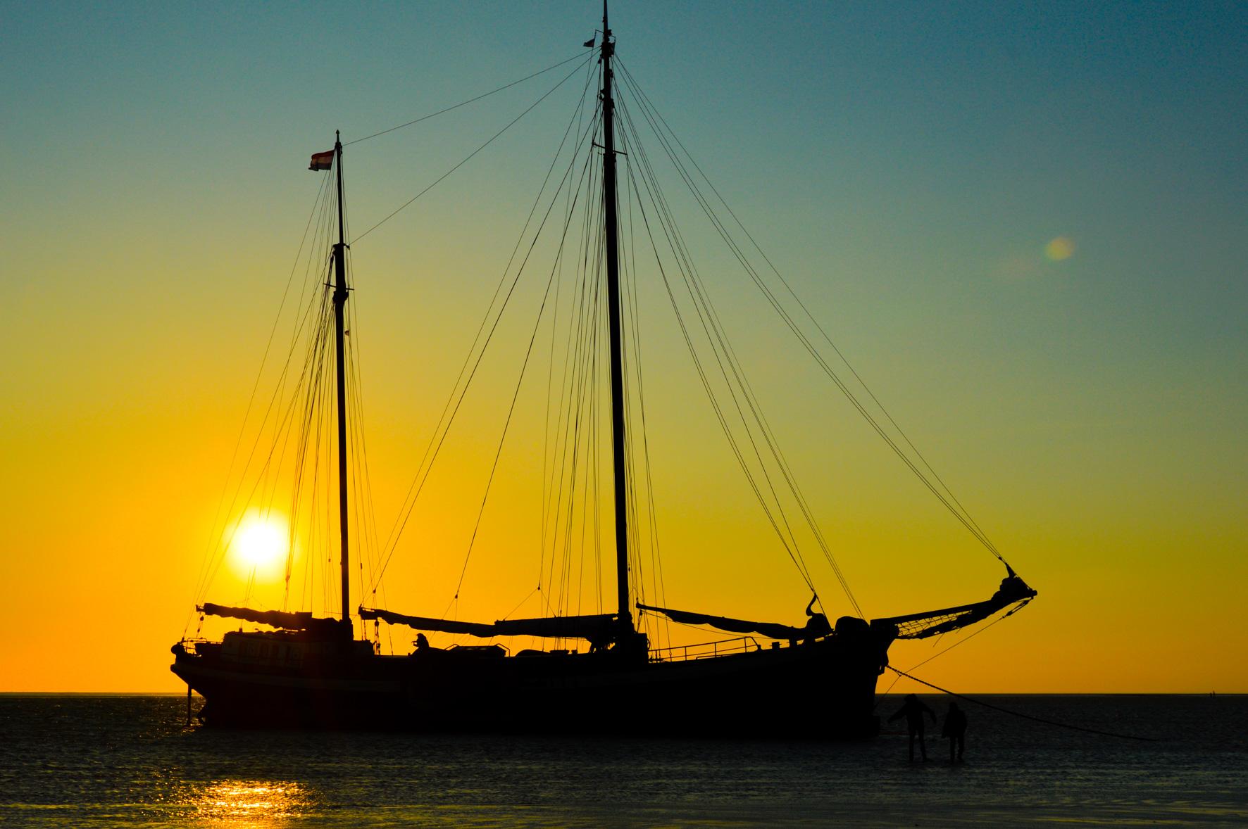 Waddenzee 2019 Zonnewind Zeilreizen droogvallen